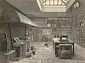 Chemistry laboratory,19th century