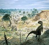 Jurassic dinosaurs,artwork