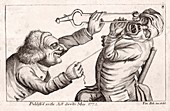 Dentistry caricature,18th century