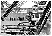 Eiffel Tower lift and hydraulics,1889