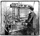 Linotype typesetting machine,1889