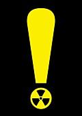 Radiation warning,conceptual artwork