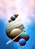 Solar system planets,artwork