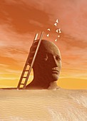 Consciousness,conceptual artwork