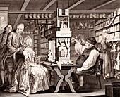 18th Century pharmacy,historical artwork