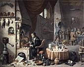 18th Century chemist,historical artwork