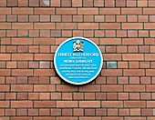 Ernest Rutherford plaque,Manchester