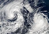 Tropical storms Boris and Cristina,2008