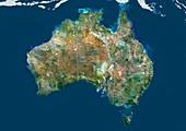 Australia,satellite image