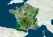 France,satellite image