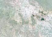 Tlaxcala,Mexico,satellite image