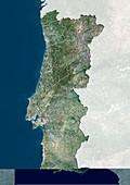Portugal,satellite image