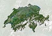 Switzerland,satellite image