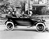 Dodge brothers in their first car,1914