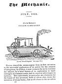 Evans steam vessel design,19th century