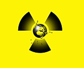 Nuclear disaster,conceptual artwork