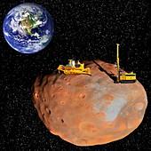 Asteroid mining,artwork