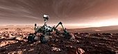 Curiosity rover,artwork