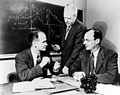 Physicists Brattain,Bardeen and Shockley