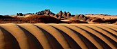Desert dunes and rocks,Algerian Sahara