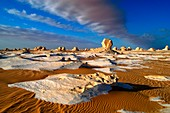 Clouds and rocks,Egypt's White Desert