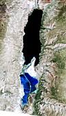 Dead Sea,1989 satellite image