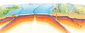 Plate tectonics,artwork