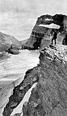Grinnell Glacier,Montana,USA,in 1920