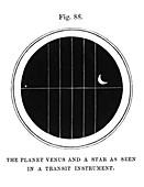 Venus and a star,transit observation