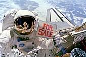 Astronaut Dale A. Gardner