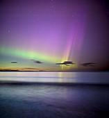 Aurora borealis,Druridge Bay,UK