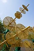 Tracking antenna at Baikonur space museum