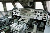 Flight deck of Russian space shuttle