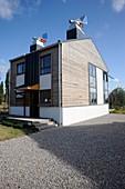 Zero-energy eco-house,France