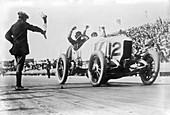 De Palma winning the 1914 Vanderbilt Cup
