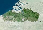 Flanders,Belgium,satellite image