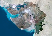 Gujarat,India,satellite image