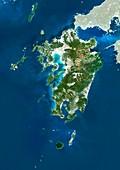 Kyushu,Japan,satellite image
