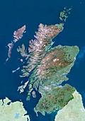 Scotland,UK,satellite image