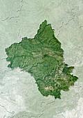 Aveyron,France,satellite image