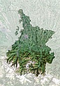 Hautes-Pyrenees,France,satellite image
