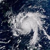 Typhoon Bopha,satellite image