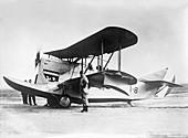 Loening amphibian biplane,1920s