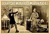 Jekyll and Hyde story illustration,1880s