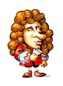 Christiaan Huygens ,caricature
