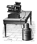 Acetylene-powered projector,1897