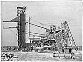 Kimberley diamond mine,artwork