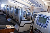 Business class seats in Airbus A340
