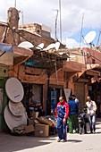 Satellite antenna shop in Marrakech