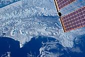 Volcanoes,Kamchatka Peninsula,ISS image